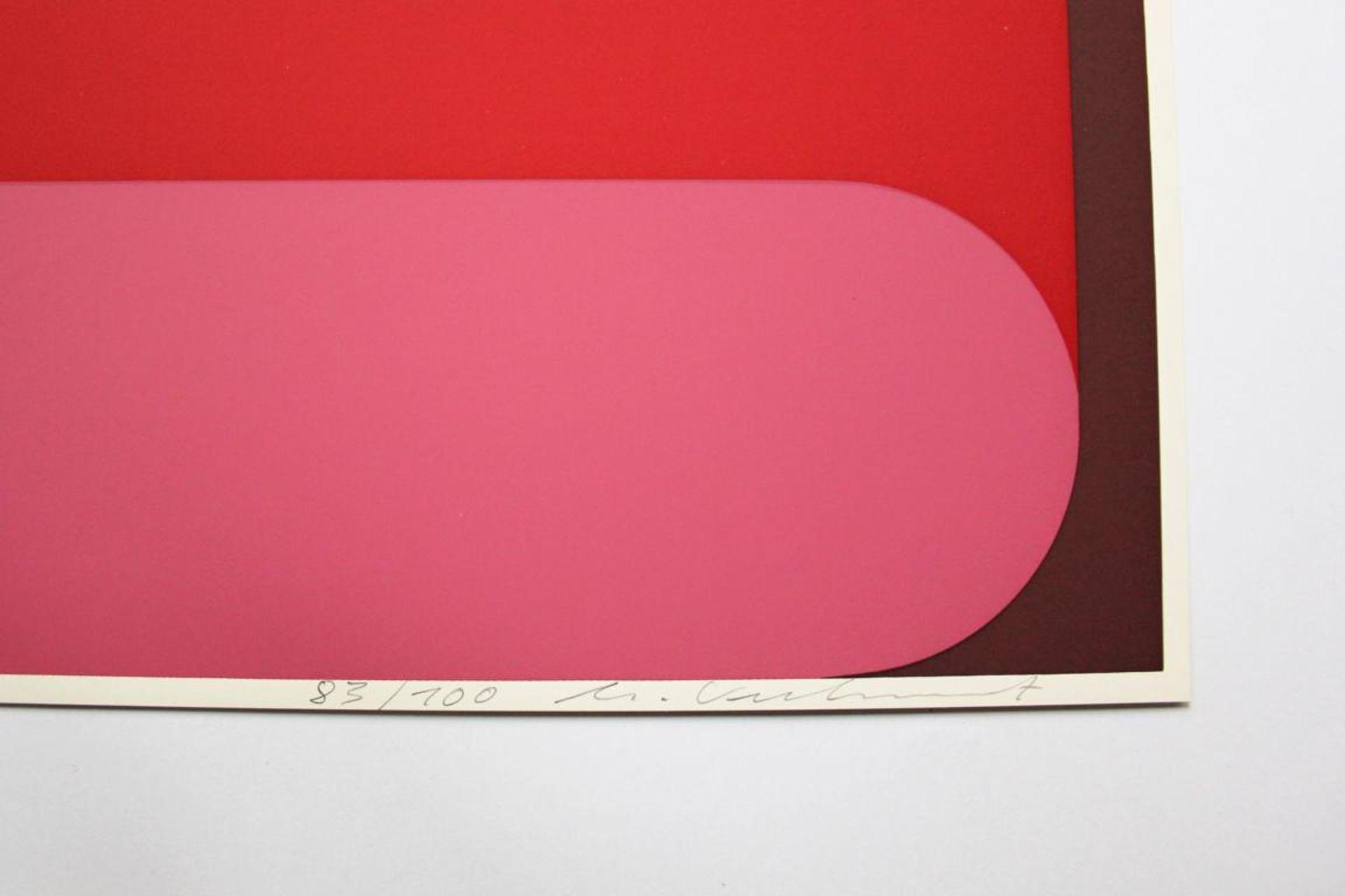 Kuhnert Horst (geb. 1938) Ohne Titel 1975 Farbsiebdruck handsigniert und nummeriert 83/100 40 x 40 - Bild 2 aus 2