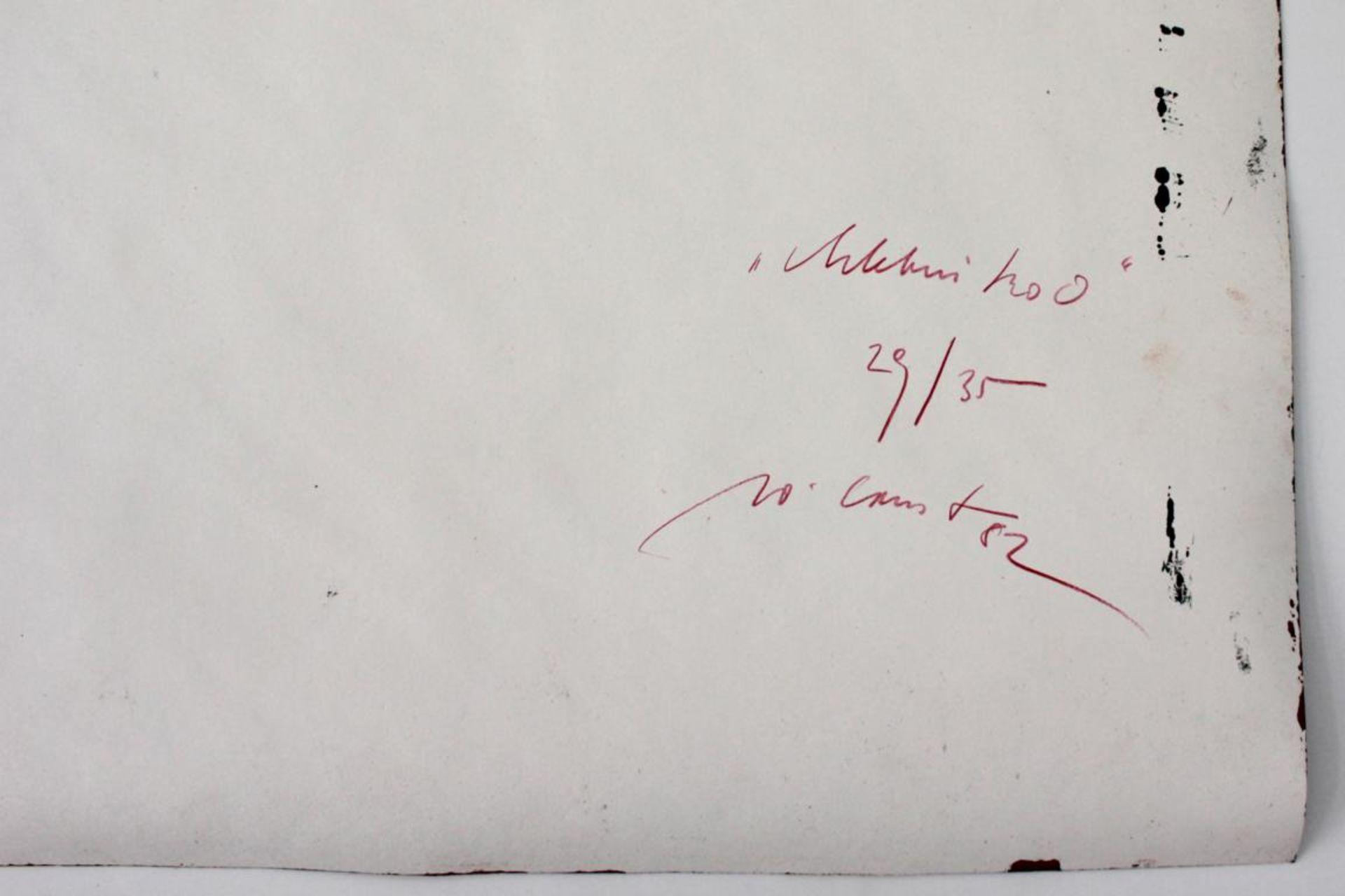 Ernst Wolfgang (geb. 1942) Ohne Titel 1982 Siebdruck auf Schleifpapier handsigniert, datiert und - Bild 2 aus 3