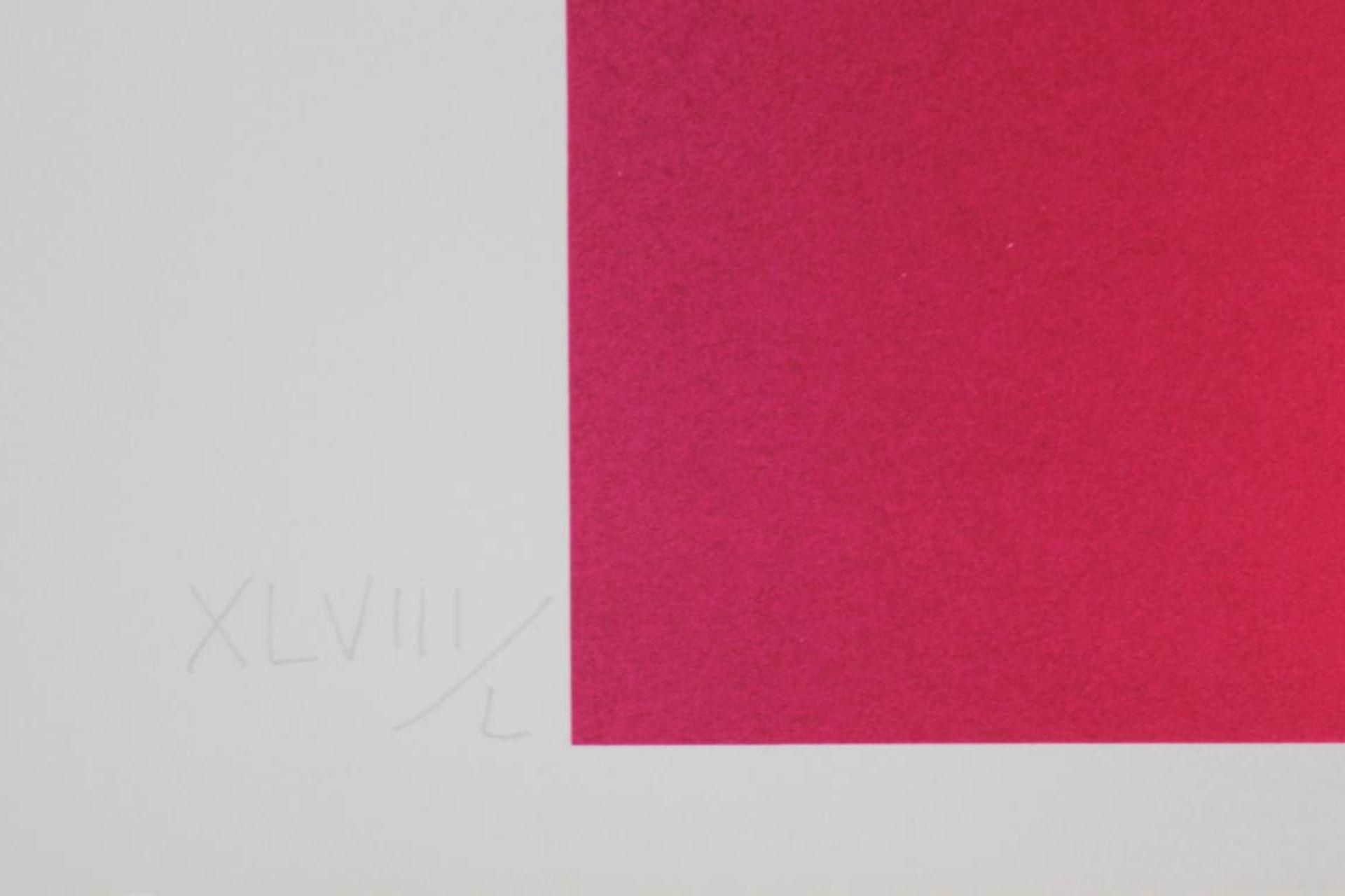 Los 1 - Alviani Getulio (1939-2018) Ohne Titel Farbsiebdruck handsigniert und nummeriert XLVIII/L 71 x 100