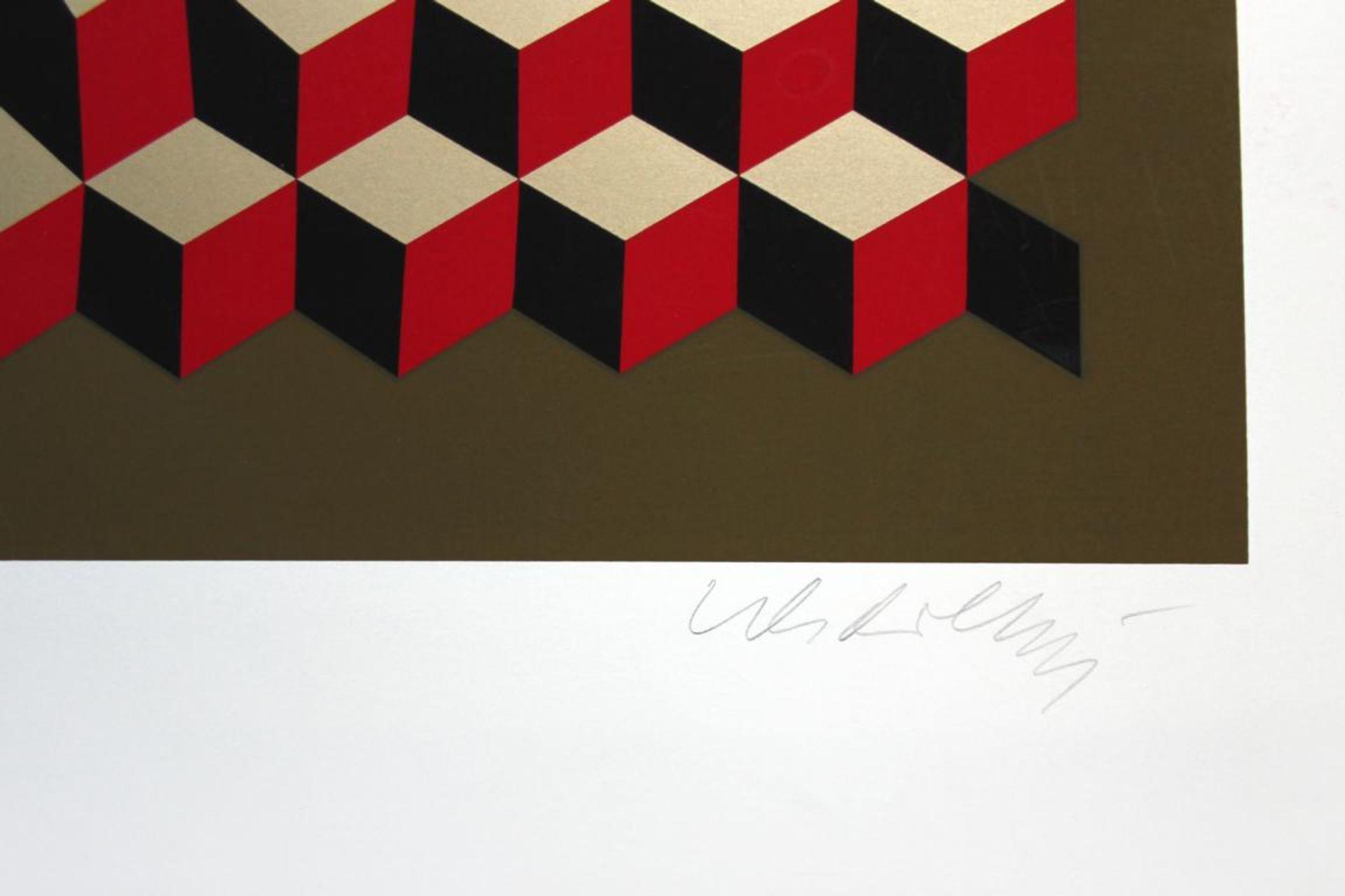 Los 22 - Vaserely Victor (1906-1997) VP-Cheyt 75 1975 Siebdruck handsigniert 117,5 x 64,5 cm