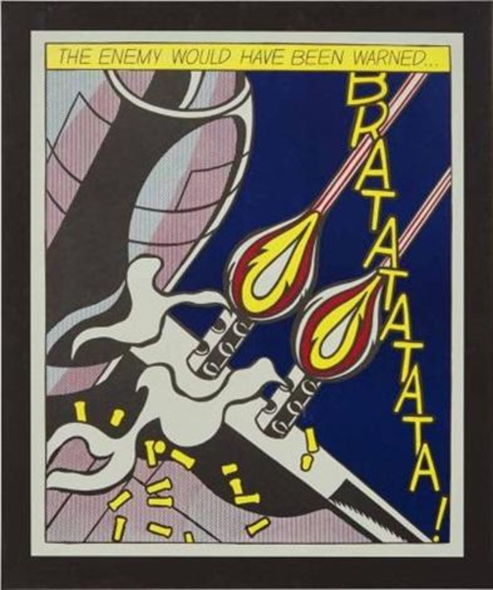 Los 25 - After Roy Lichtenstein (1932-1997) As i opened fire - 2 nach 1966 Offset-Lithographie Poster