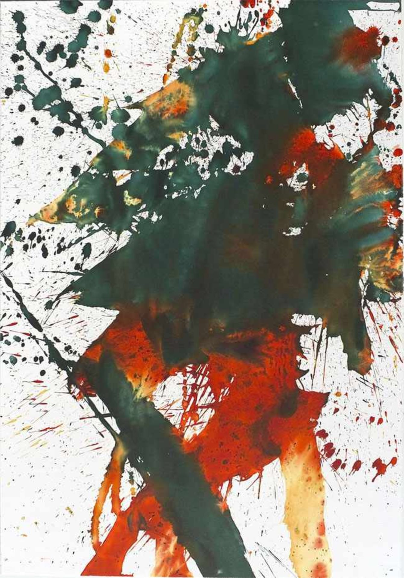 Los 33 - Grabmayr Franz (1927-2015) Tanzbild 2013 Farblithographie handsigniert und nummeriert rückseitig,