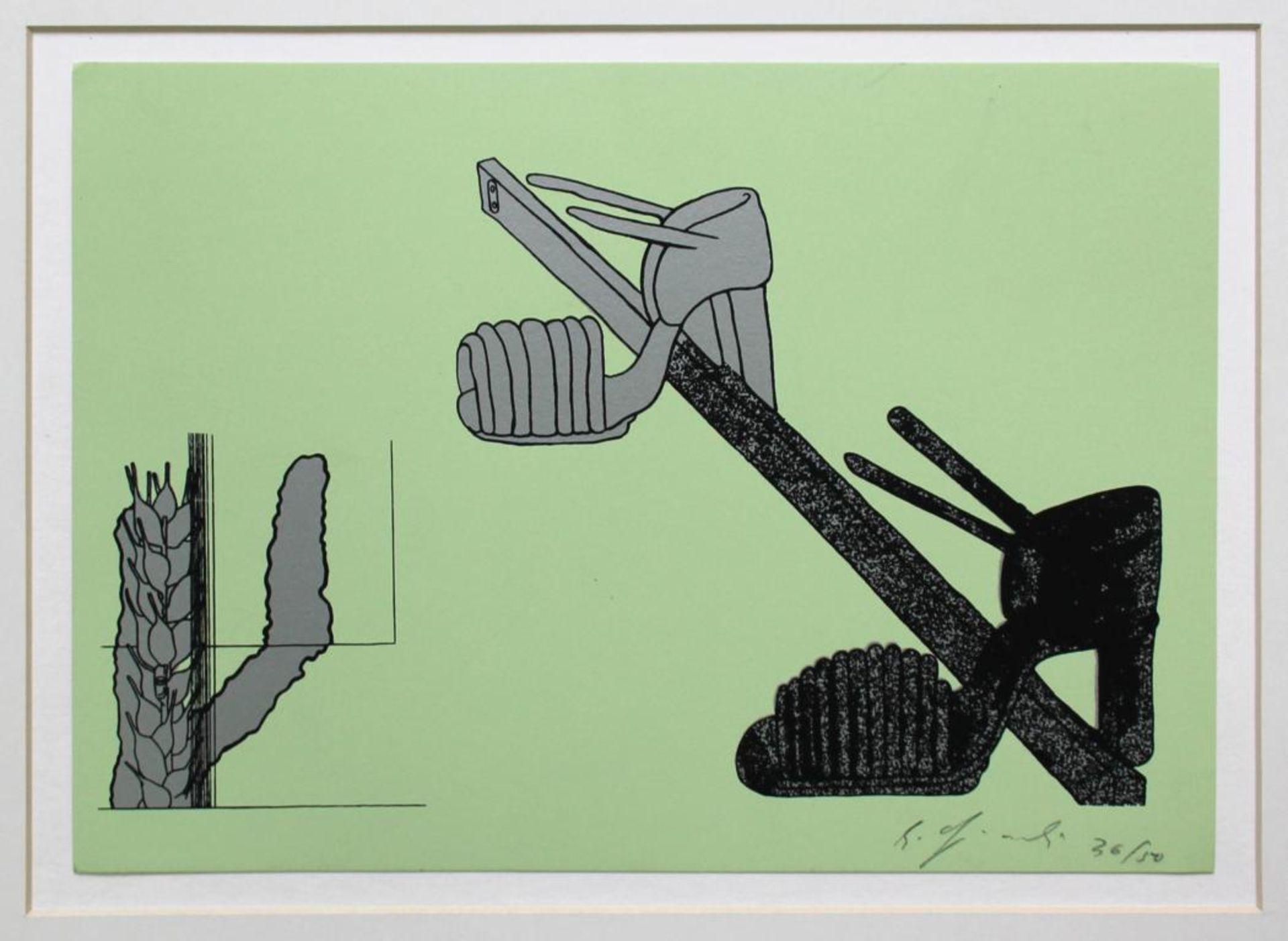 Gironcolli Bruno (1936-2010) Ohne Titel 1985 Siebdruck handsigniert, nummeriert 36/50 21 x 30 cm