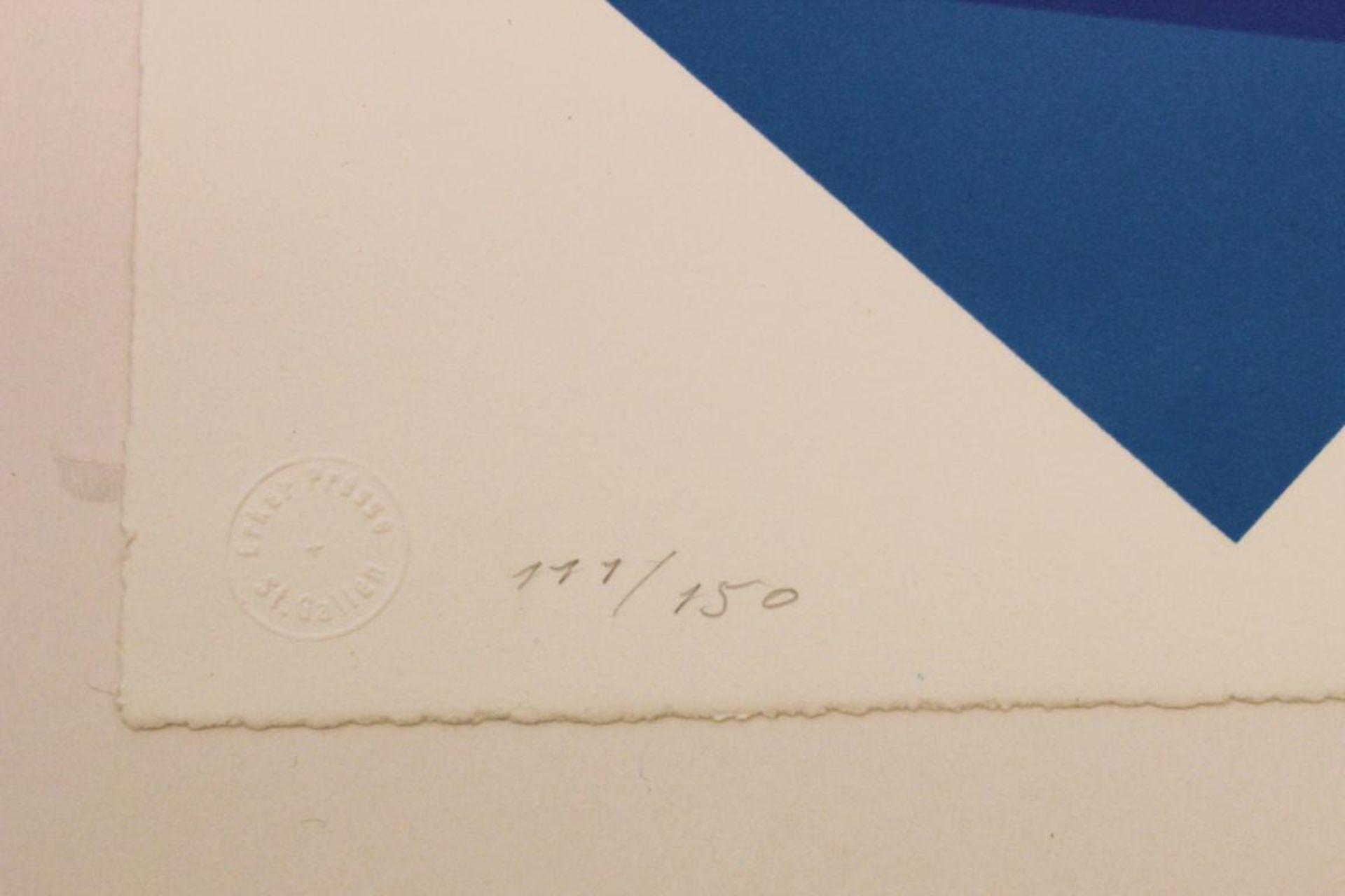 Doratio Piero (1927-2005) Ohne Titel 1995 Lithographie handsigniert, datiert und nummerieret 111/150 - Bild 3 aus 3