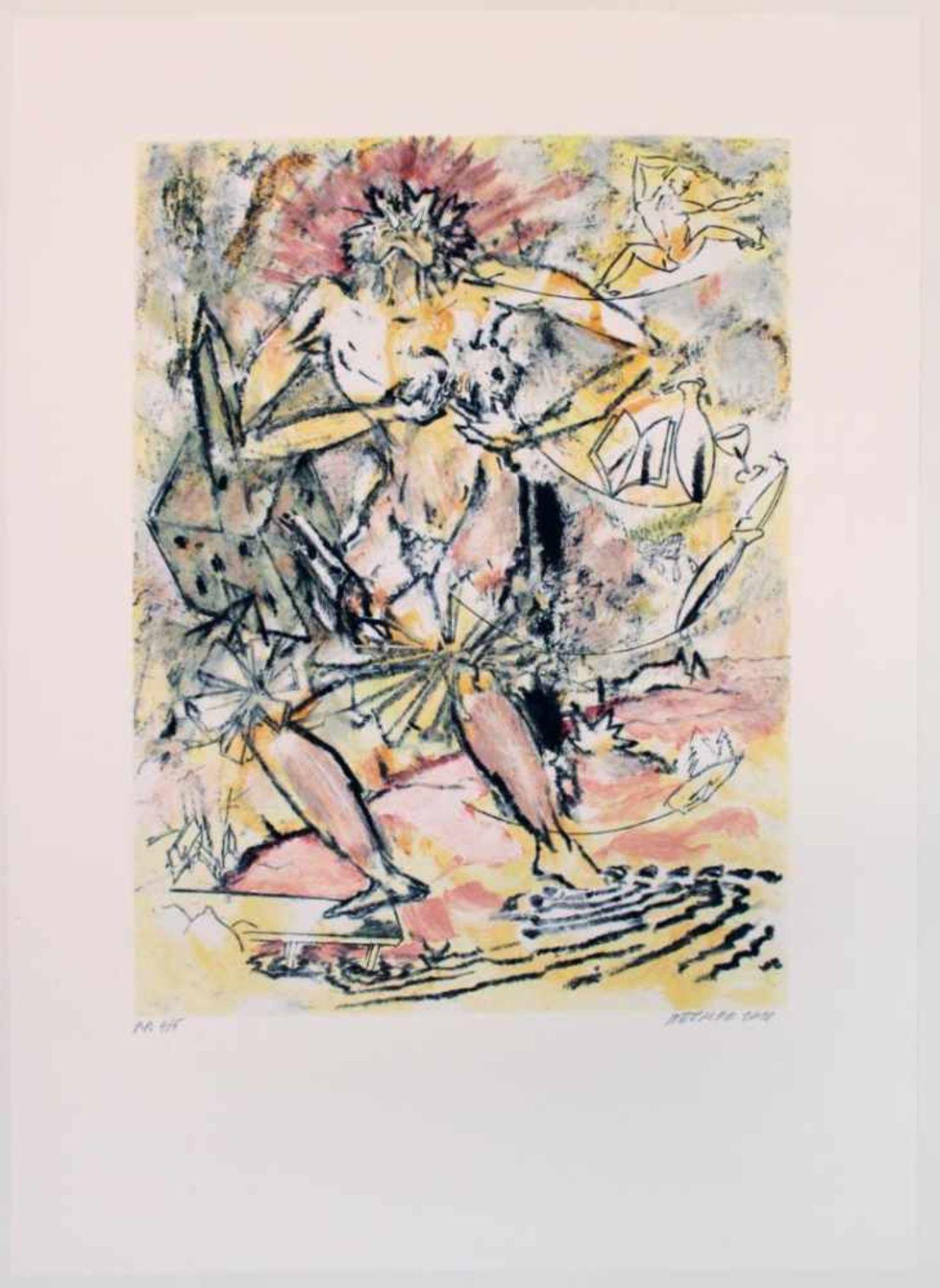 Attersee Christian Ludwig (geb. 1940) Ohne Titel 2010 Farblithographie handsigniert und nummeriert