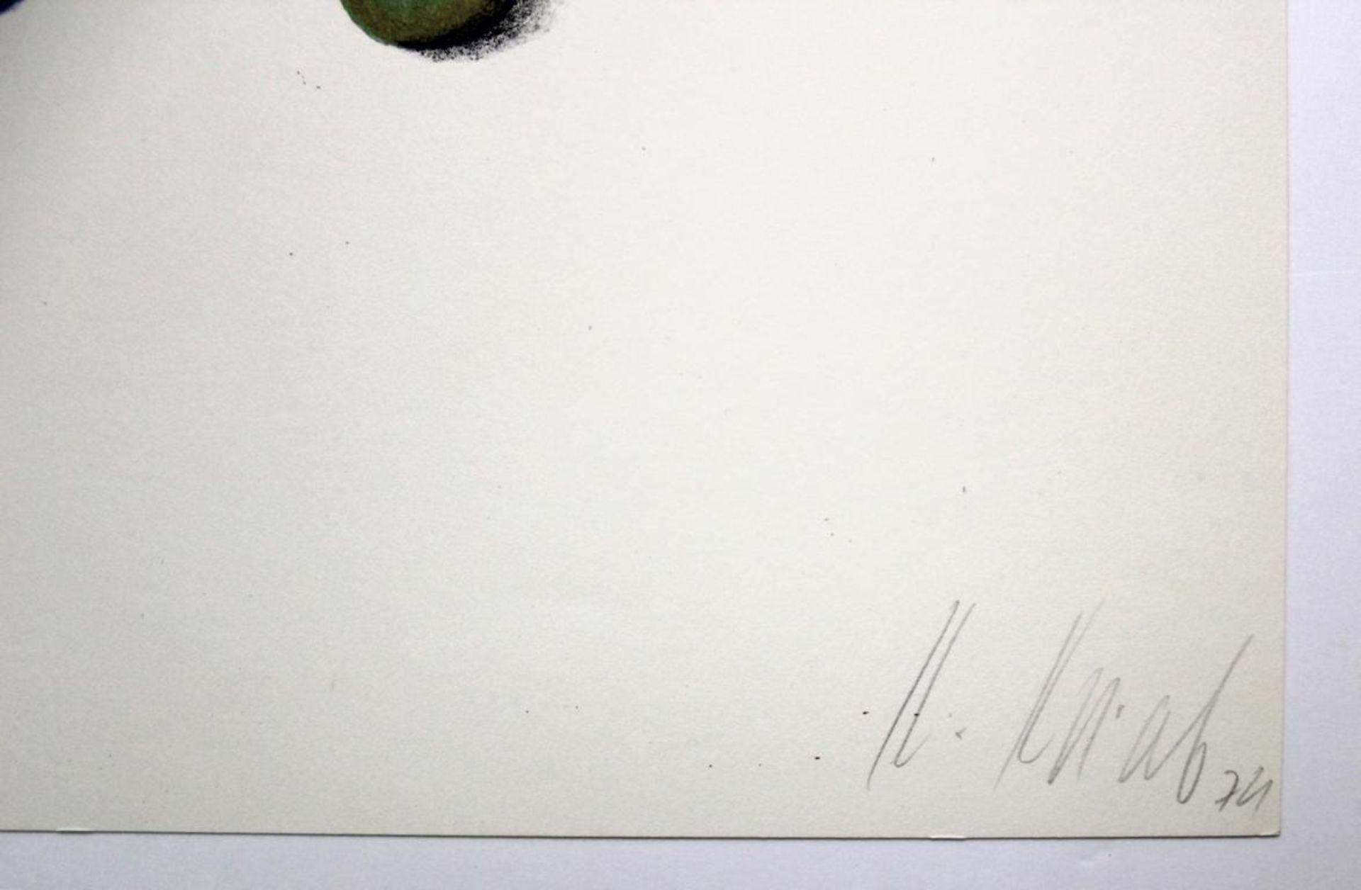 Korab Karl (geb. 1937) Ohne Titel 1974 Farblithographie handsigniert, datiert und nummeriert ed. - Bild 2 aus 3