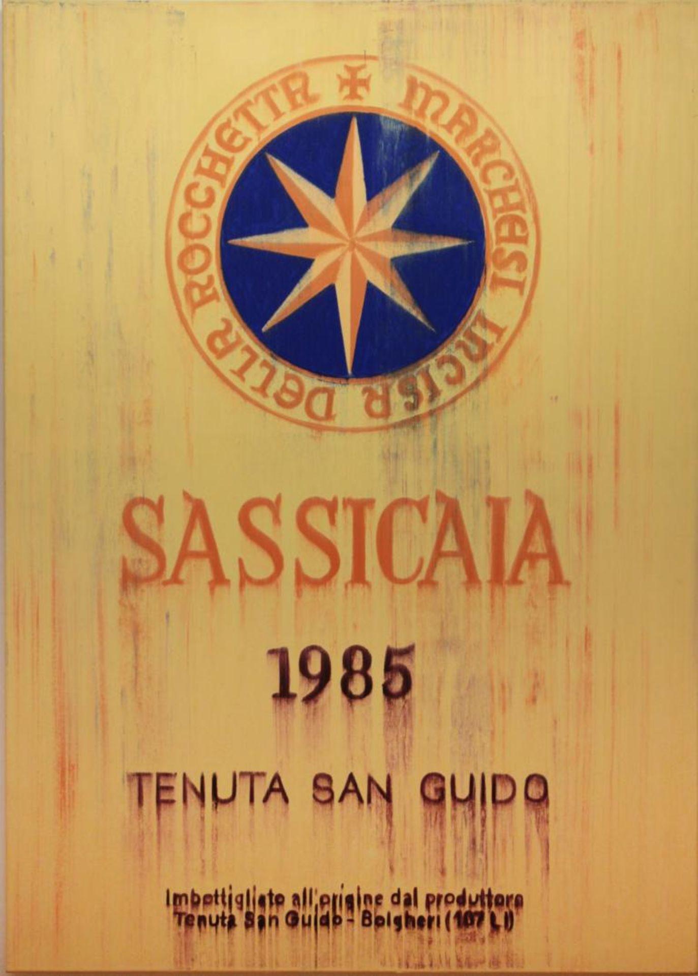 Los 59 - Borrower Djawid (geb. 1958) Weinbild (Sassicaia) Öl auf Leinwand handsigniert rückseitig 124,5 x