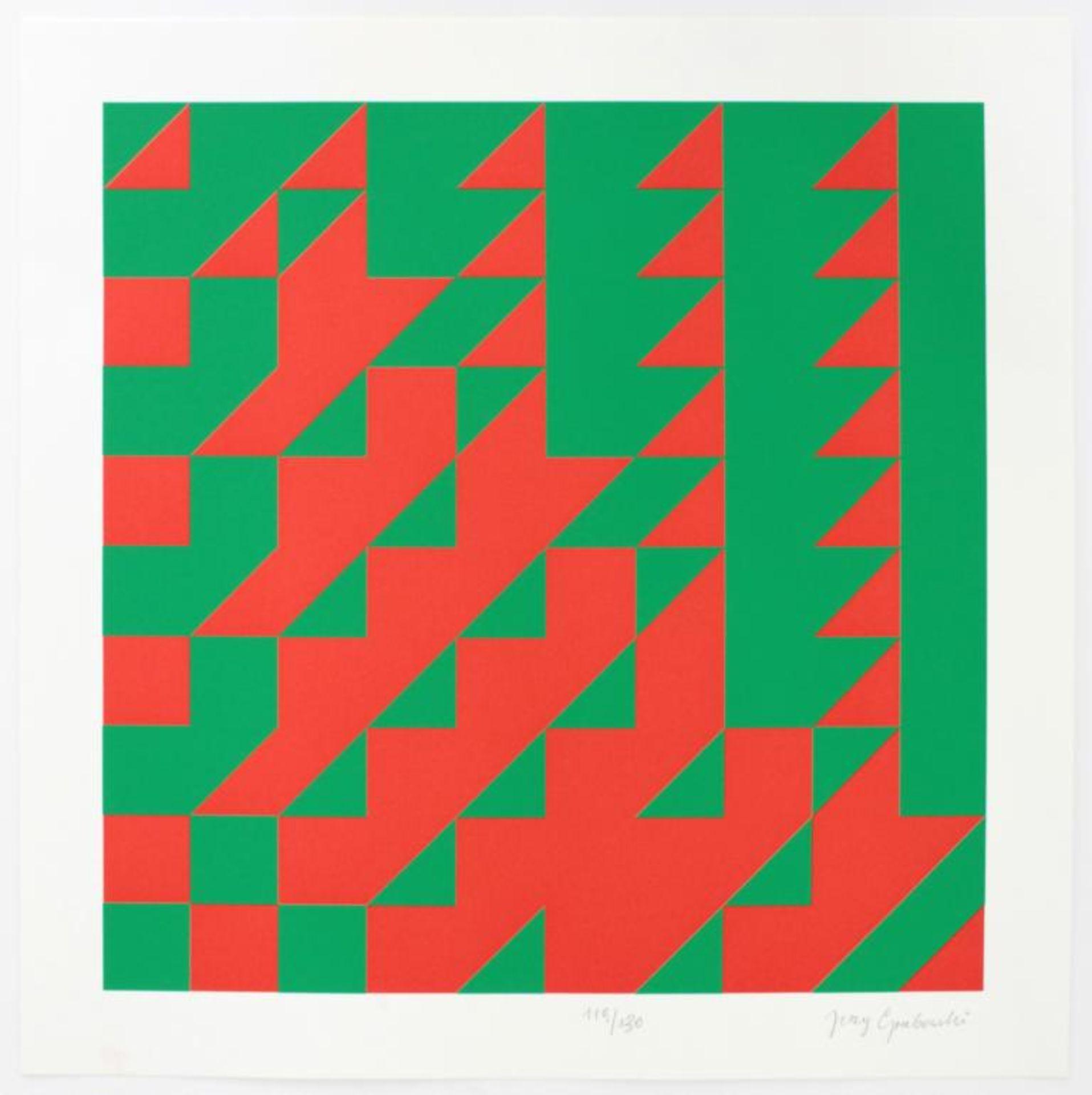 Los 6 - Grabowski Jirzy (1933-2004) Ohne Titel Siebdruck handsigniert und nummeriert 1119/130, aus dem
