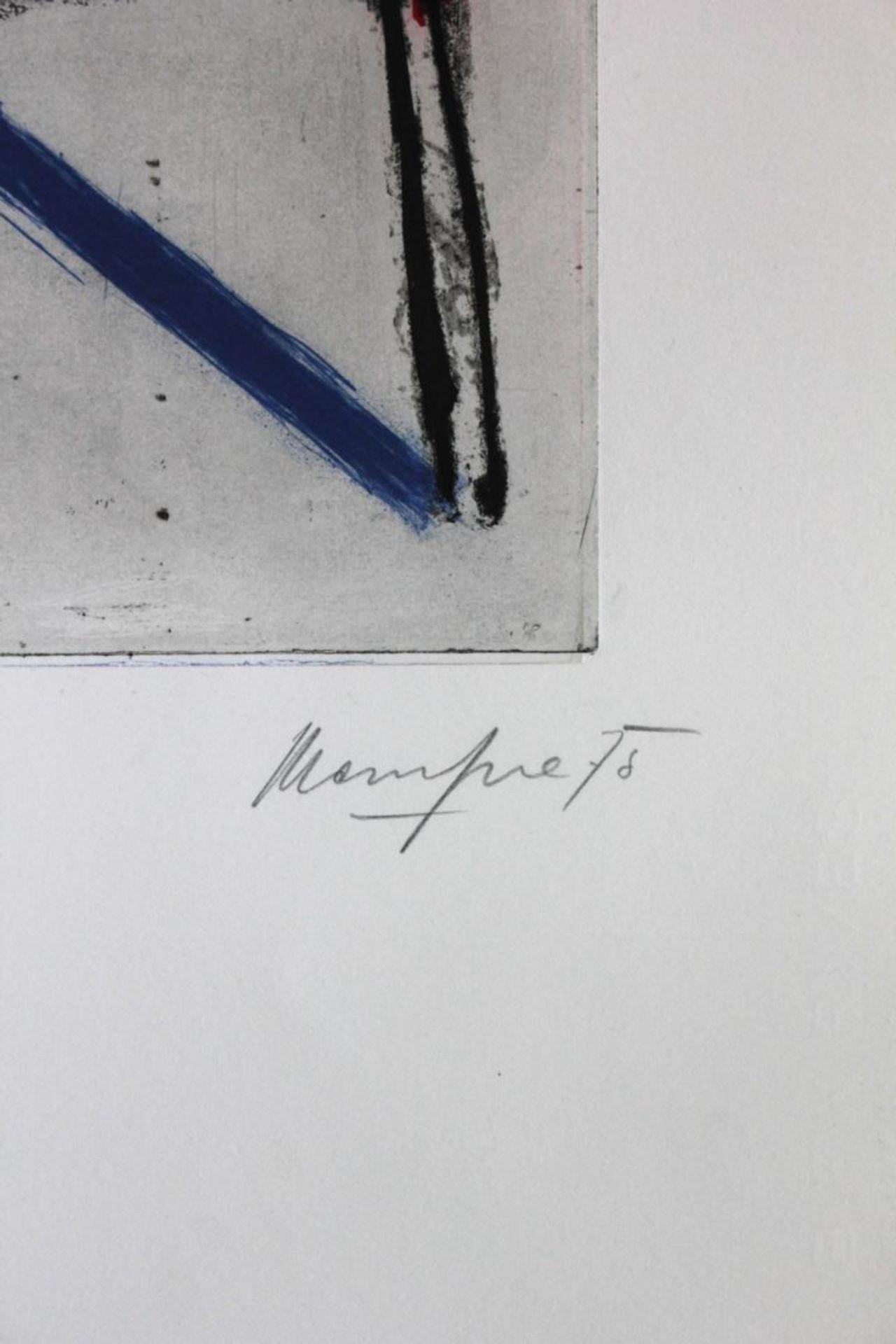 Messensee Jürgen (geb. 1936) Ohne Titel 1975 Lithographie handsigniert, datiert und nummeriert 30/50 - Bild 2 aus 3