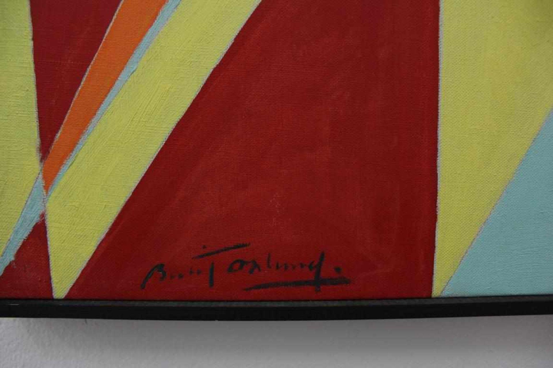 Ölund Bertl Dioptrique rouge-janne II 1957 Öl auf Leinwand handsigniert, datiert und bezeichnet - Bild 2 aus 3