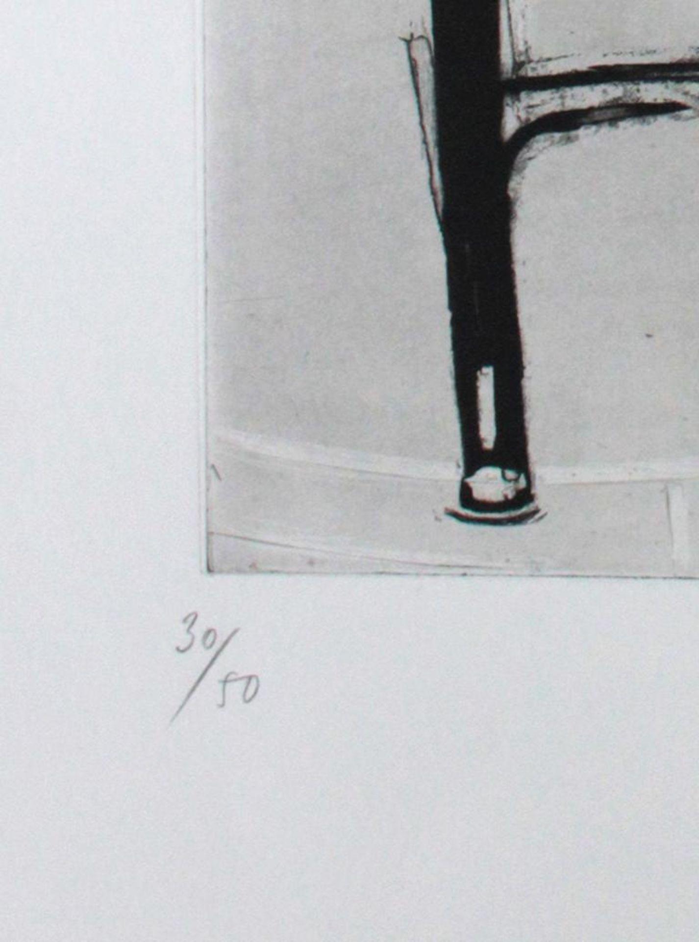 Messensee Jürgen (geb. 1936) Ohne Titel 1975 Lithographie handsigniert, datiert und nummeriert 30/50 - Bild 3 aus 3