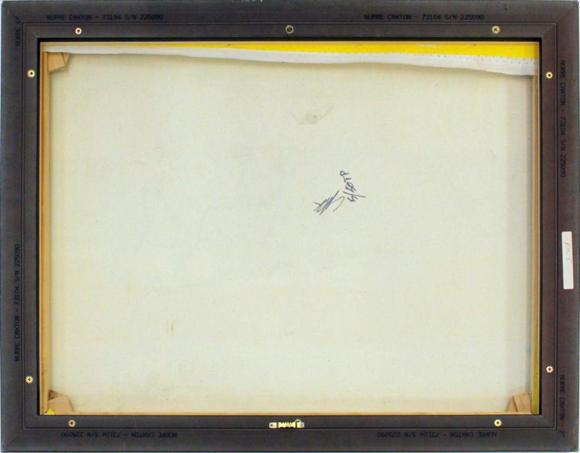 Los 34 - Kaufman Steve (1960-2010) Three Cohibas Siebdruck und Öl auf Leinwand Edition 5/50, Zertifikat Verso