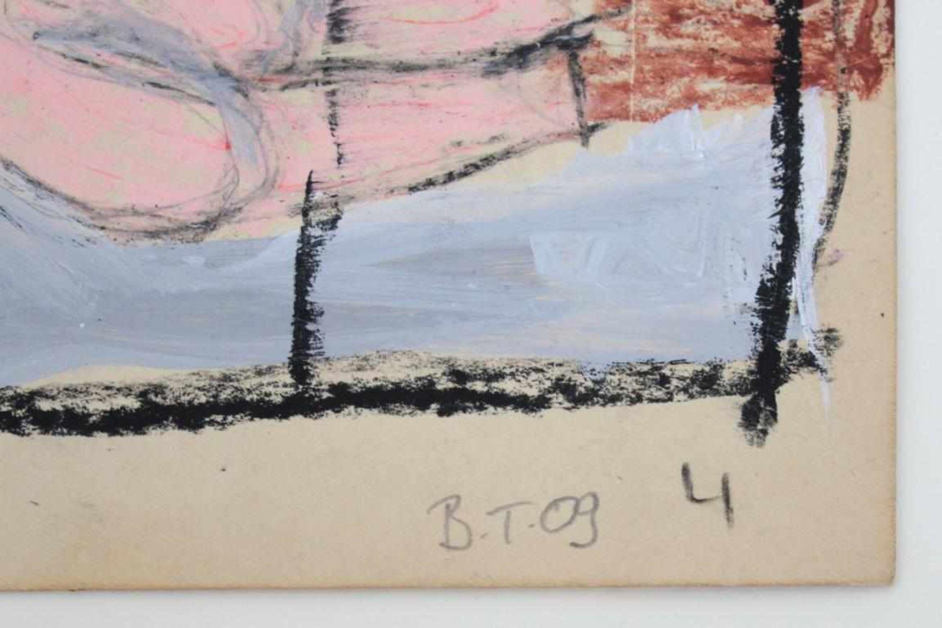 Los 56 - Thanner Billi (geb. 1972) Akt 2009 Mischtechnik auf Karton handsigniert, gerahmt 24 x 19 cm