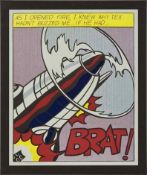 After Roy Lichtenstein (1932-1997) As i opened fire - 1 nach 1966 Offset-Lithographie Poster