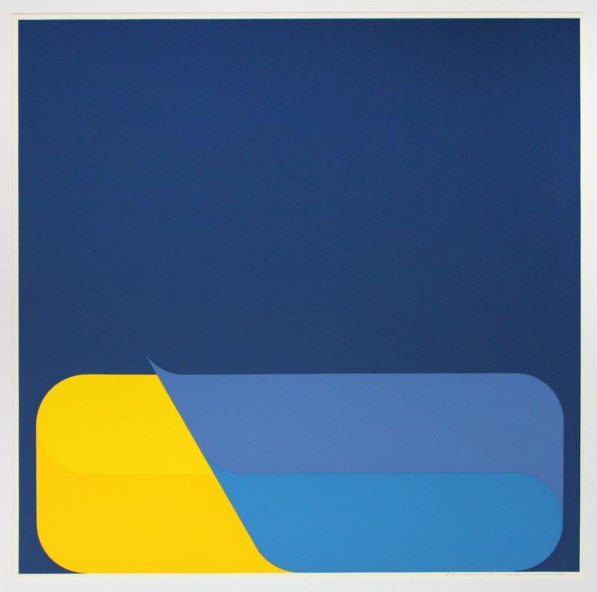 Kuhnert Horst (geb. 1938) Ohne Titel 1975 Farbsiebdruck handsigniert und nummeriert 99/100 40 x 40