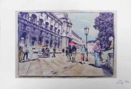 Landerl Paul (geb. 1969) Streetlife 2016 Lithographie handsigniert, datiert und nummeriert 10/50