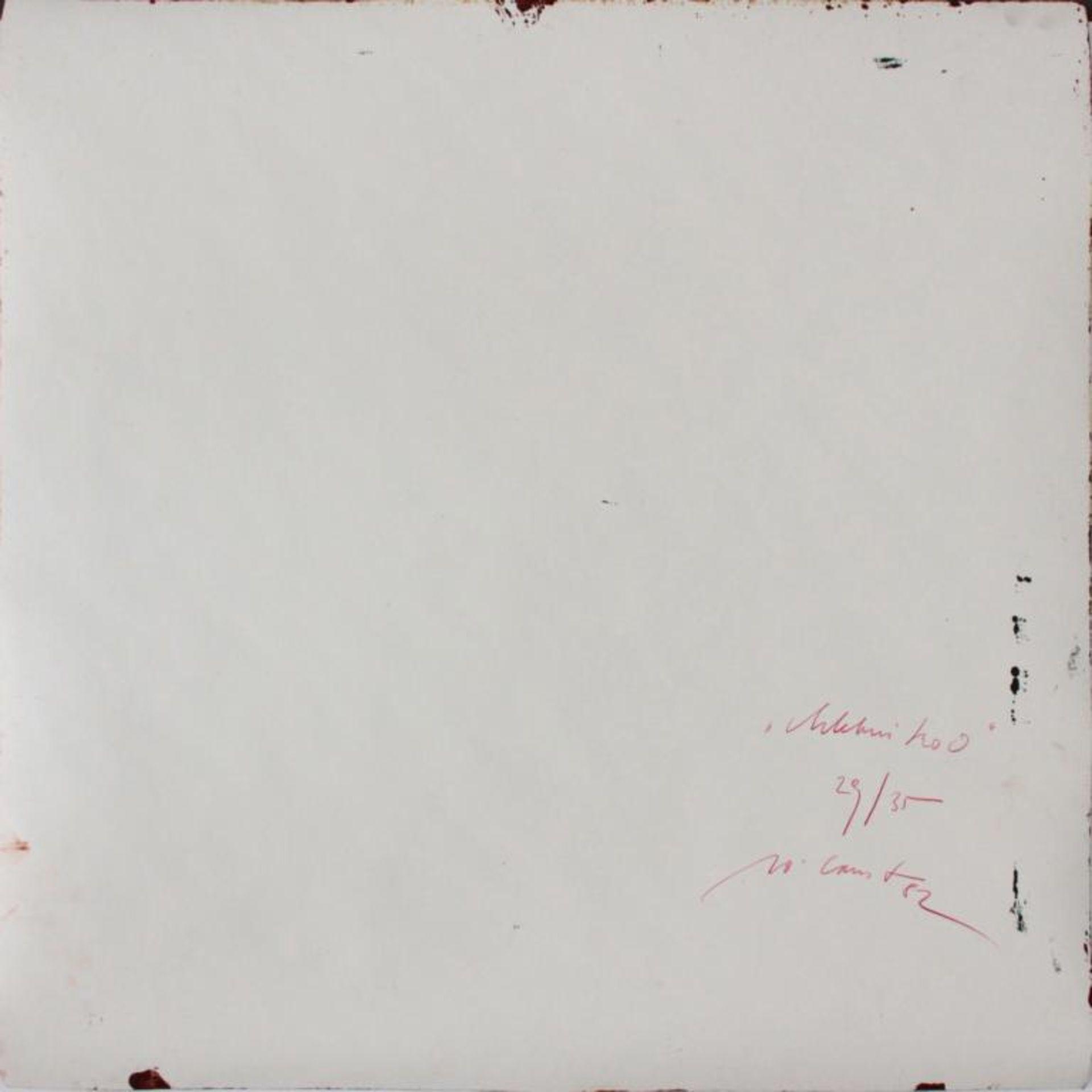 Ernst Wolfgang (geb. 1942) Ohne Titel 1982 Siebdruck auf Schleifpapier handsigniert, datiert und - Bild 3 aus 3