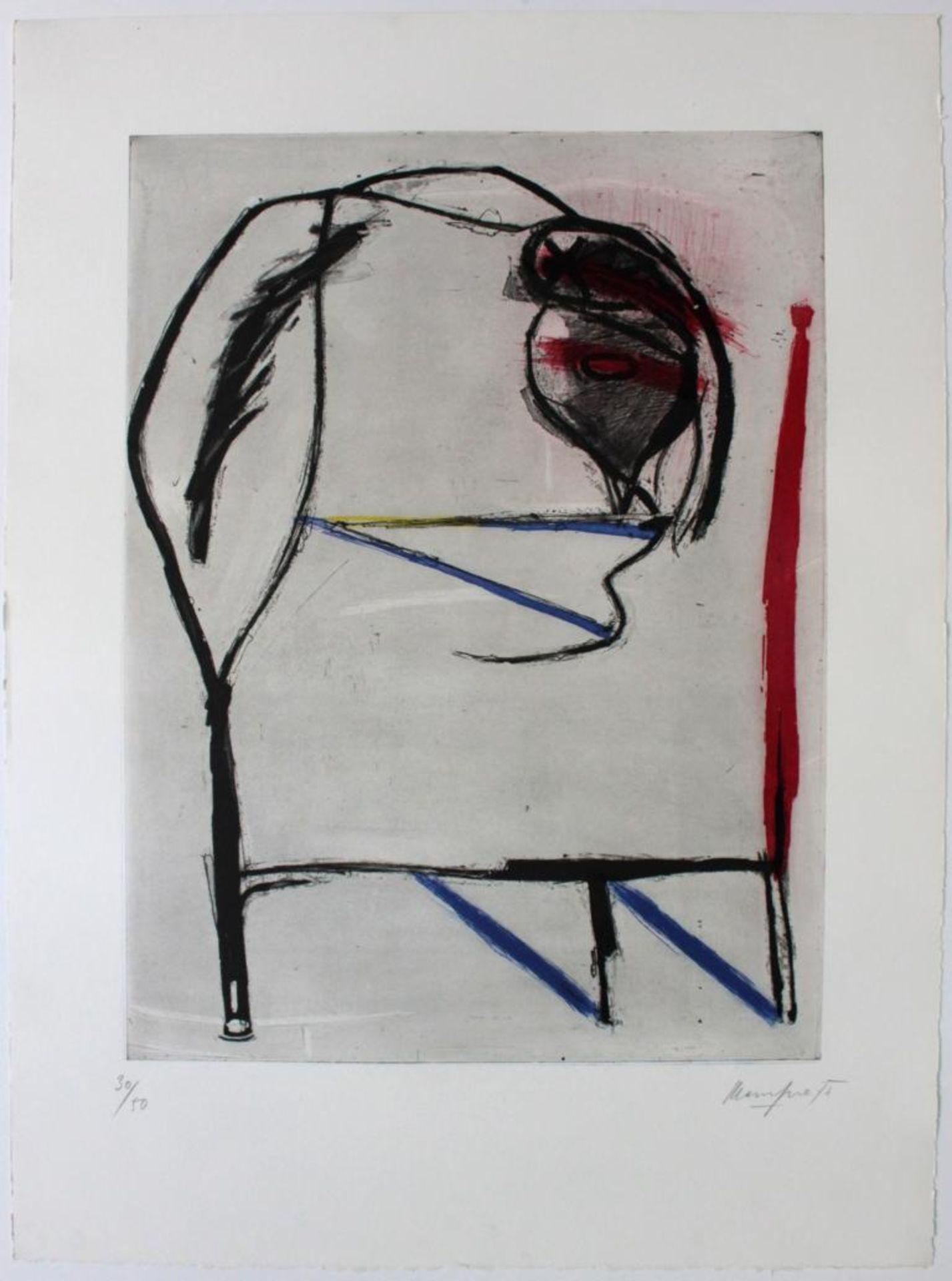 Messensee Jürgen (geb. 1936) Ohne Titel 1975 Lithographie handsigniert, datiert und nummeriert 30/50