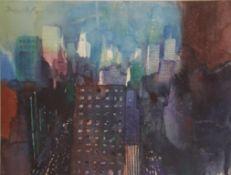 Vogel Bernhard (geb. 1961) New York 1988 Aquarel auf Papier handsigniert 29 x 38 cm