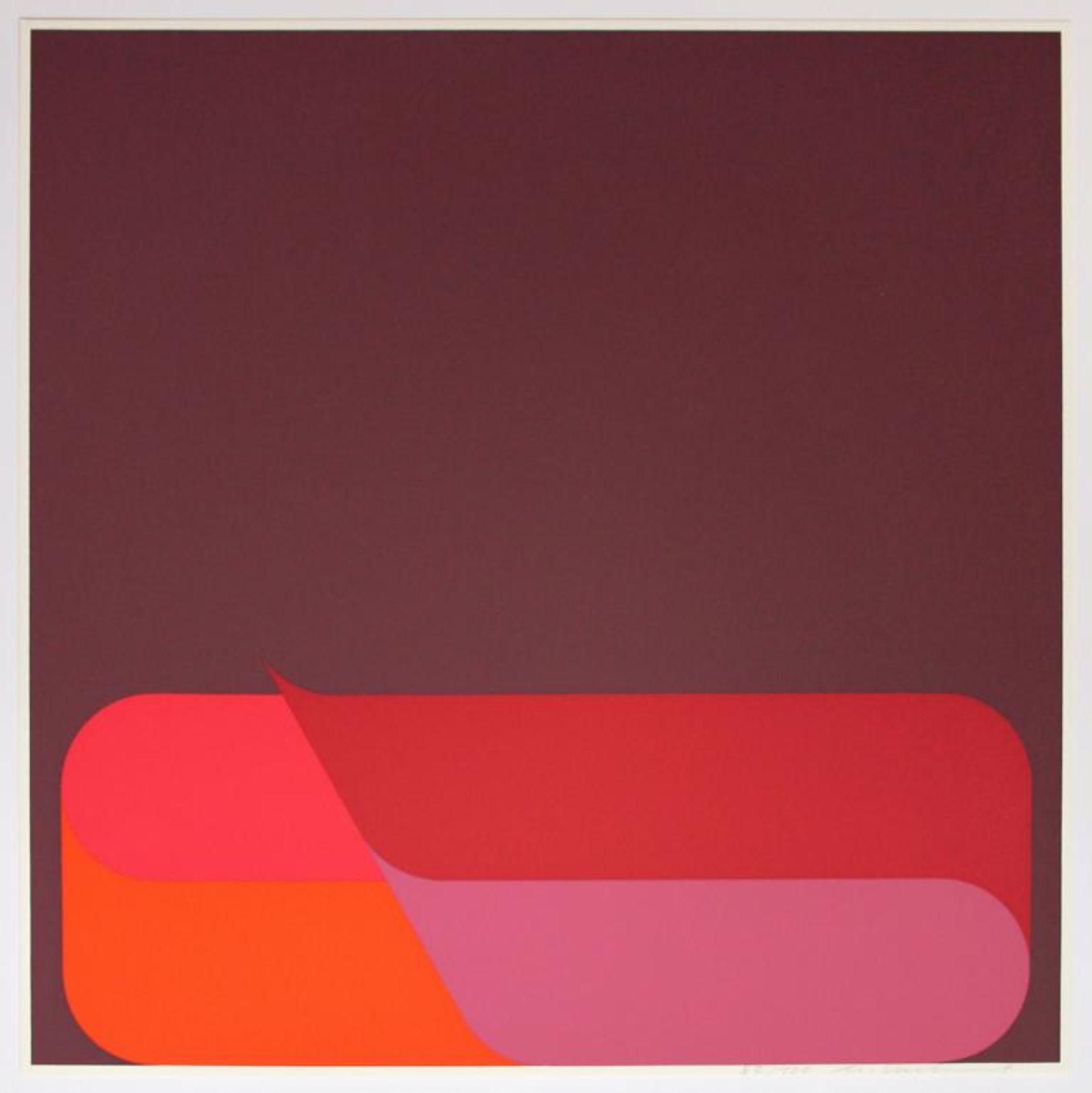 Kuhnert Horst (geb. 1938) Ohne Titel 1975 Farbsiebdruck handsigniert und nummeriert 83/100 40 x 40