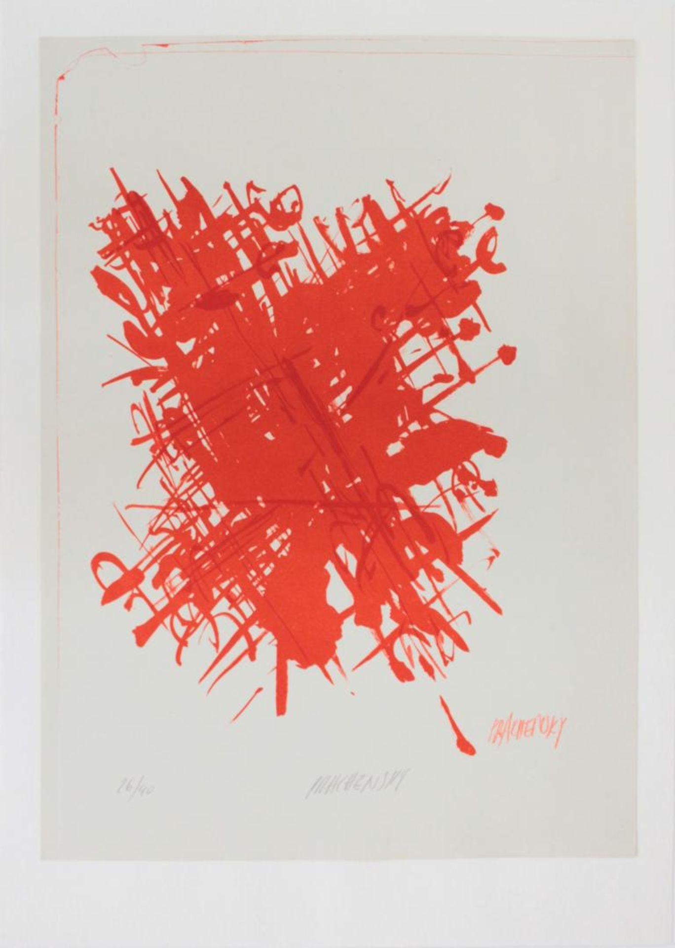 Prachensky Markus (1932-2011) Ohne Titel 1960er Farblithographie handsigniert und nummeriert 26/40