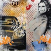 Miles Devin (geb. 1961) Crazy Little Things - Brigitte Bardoux 2017 Malerei, Airbrush und