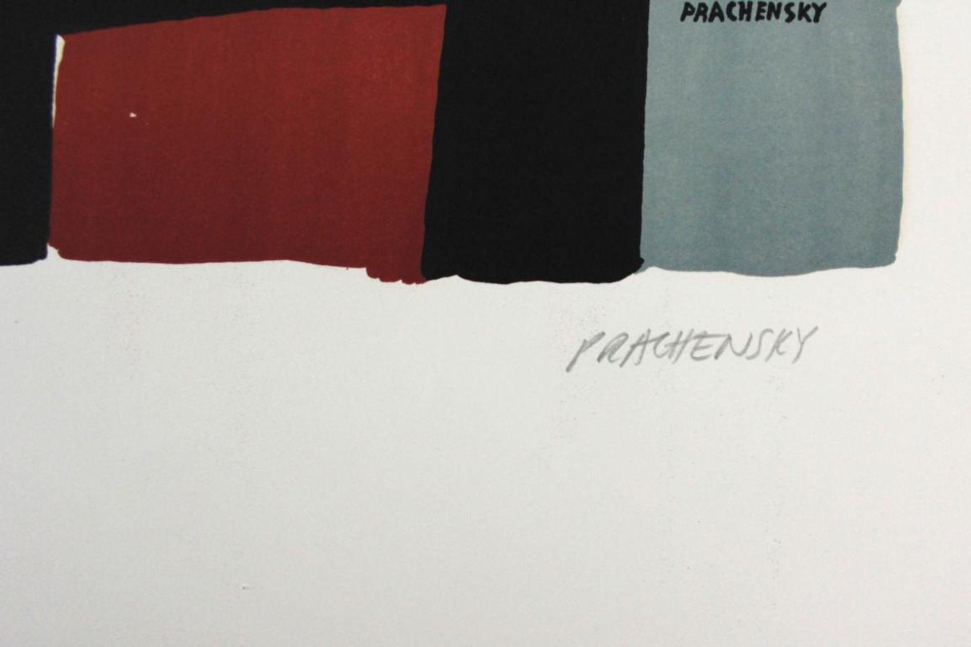Prachensky Markus (1932-2011) Geometrische Komposition 1950/60 Farblithographie handsigniert und - Bild 2 aus 3