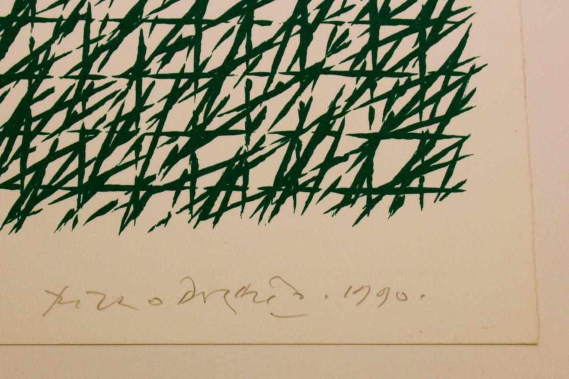 Doratio Piero (1927-2005) Ohne Titel 1990 Lithographie handsigniert und datiert 39 x 28 cm - Bild 2 aus 2