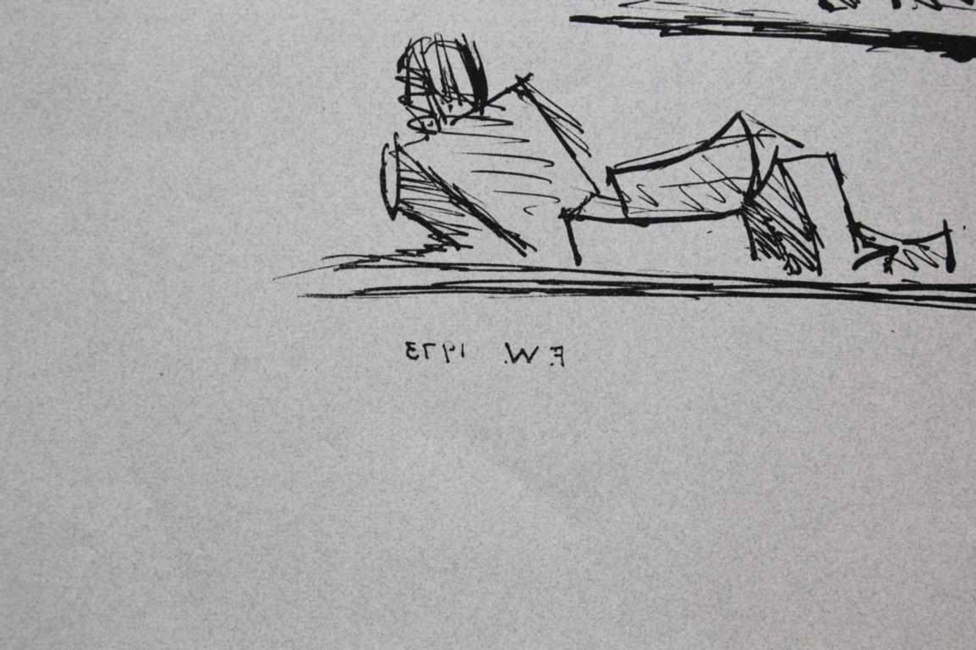 Los 116 - Wotruba Fritz (1907-1975) Skizze 1973 Lithographie Monogramm und Datum in Druckplatte 50 x 65 cm