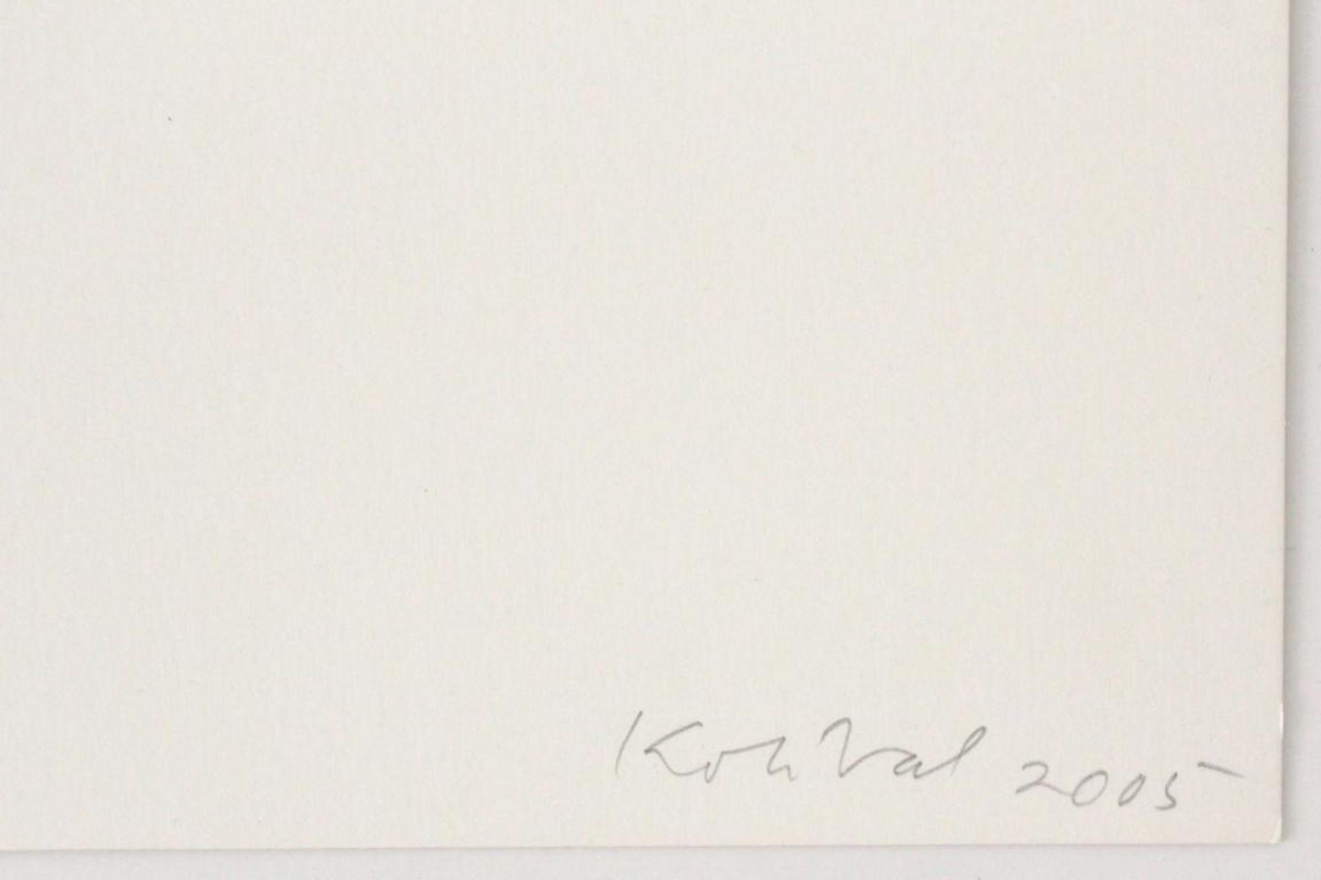Kolibal Stanislav (geb. 1925) Ohne Titel 2005 Siebdruck handsigniert, datiert und nummeriert 117/ - Bild 2 aus 3