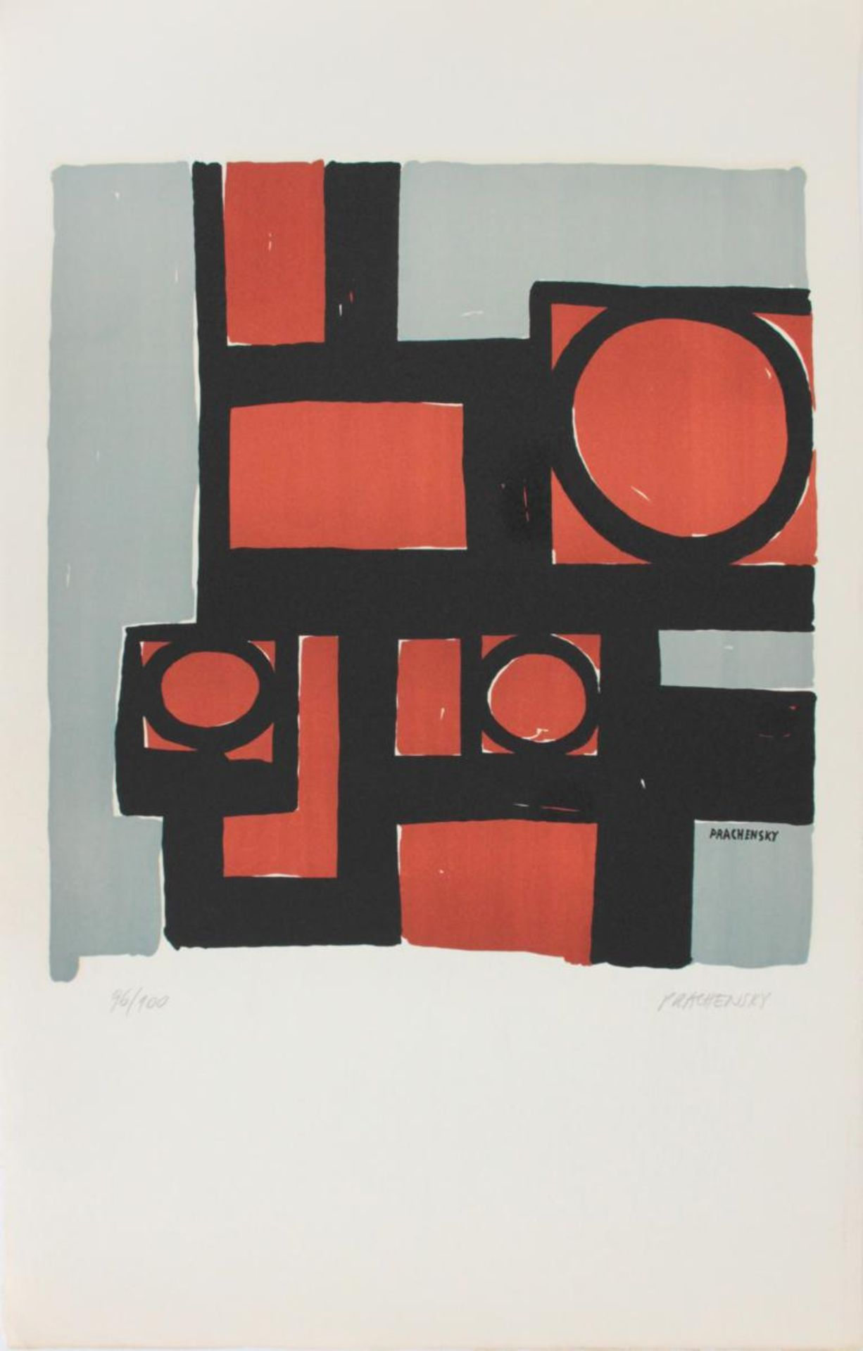Prachensky Markus (1932-2011) Geometrische Komposition 1950/60 Farblithographie handsigniert und