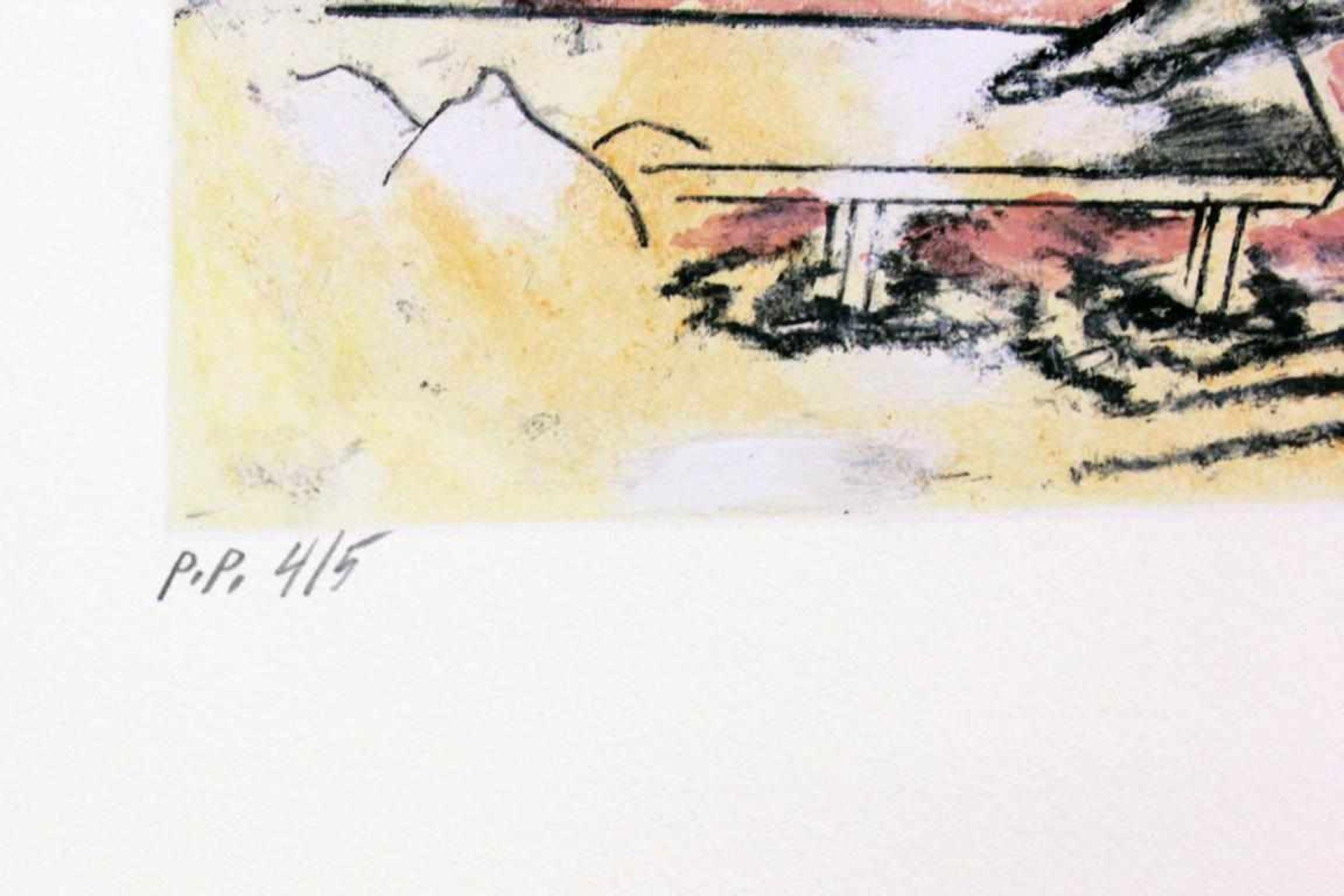 Attersee Christian Ludwig (geb. 1940) Ohne Titel 2010 Farblithographie handsigniert und nummeriert - Bild 3 aus 3
