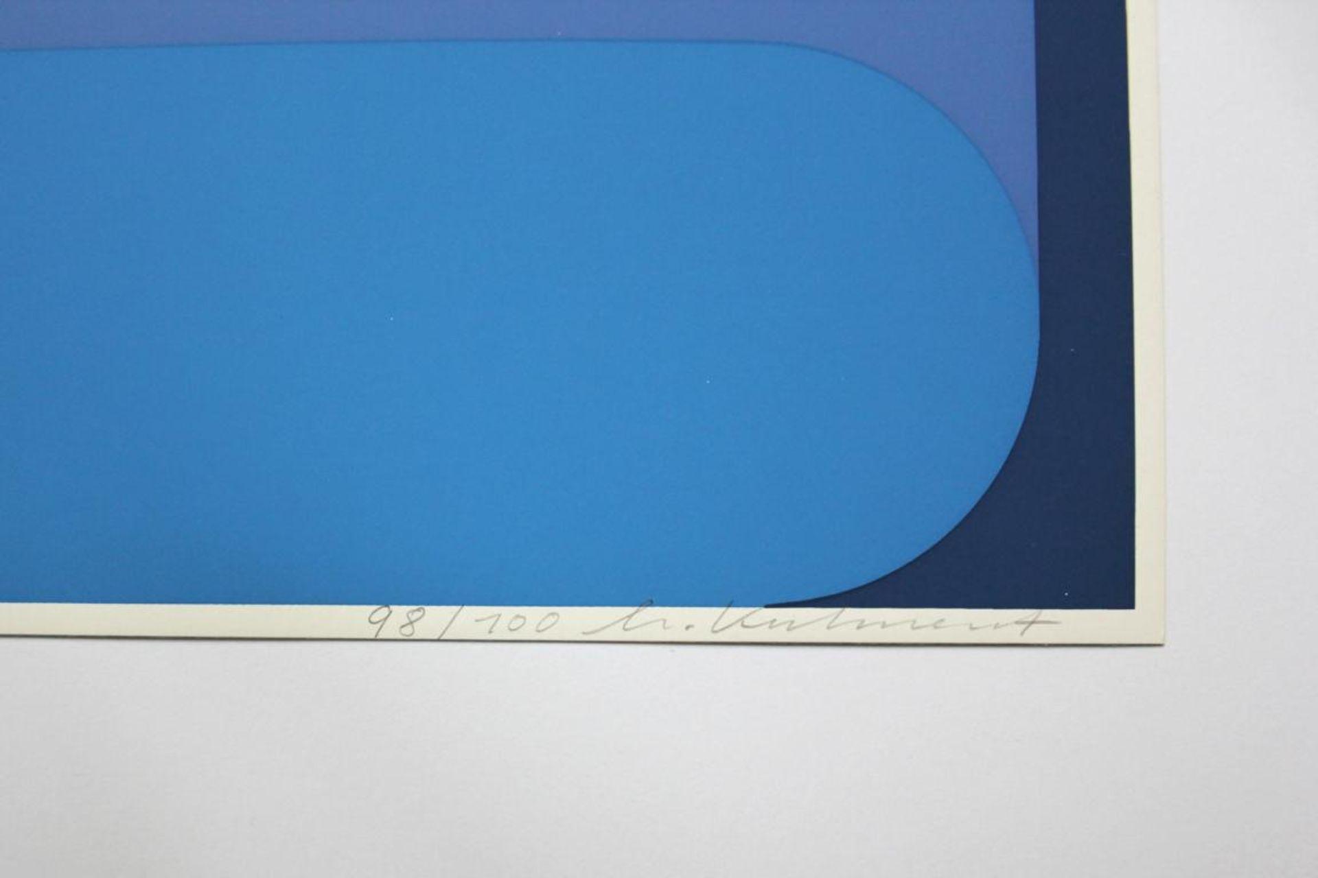 Kuhnert Horst (geb. 1938) Ohne Titel 1975 Farbsiebdruck handsigniert und nummeriert 99/100 40 x 40 - Bild 2 aus 2