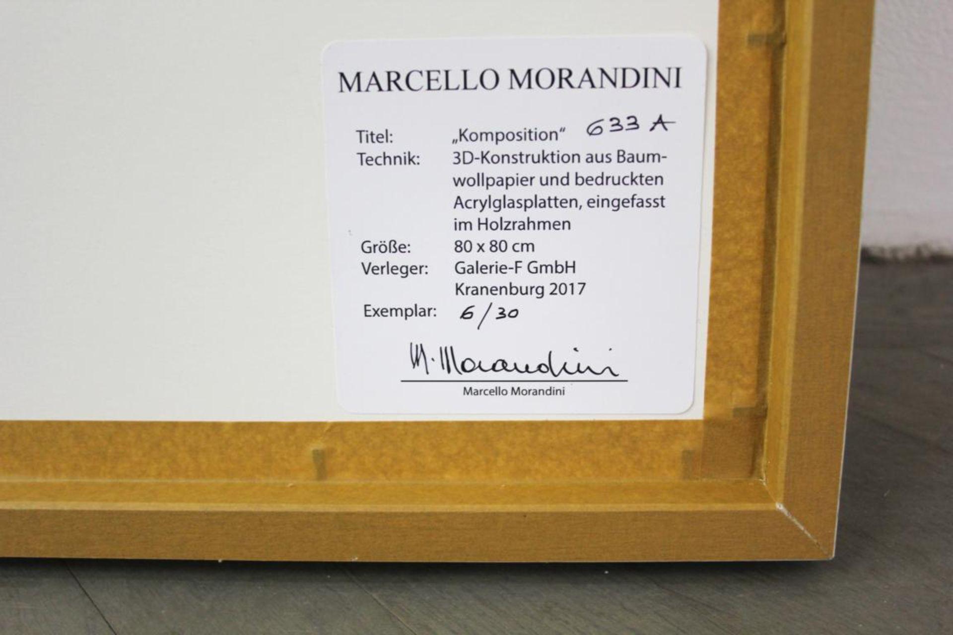 Morandini Marcello (geb. 1940) Komposition 633a 2017 3D Konstruktion aus Baumwollpapier und - Bild 2 aus 2