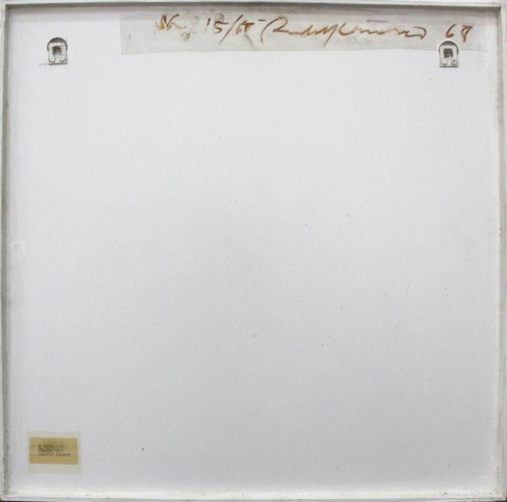 Los 12 - Kämmer Rudolf (geb. 1935) 4 Spiralen 1967 Acryl-Leuchtfarbe auf Platte handsigniert und datiert