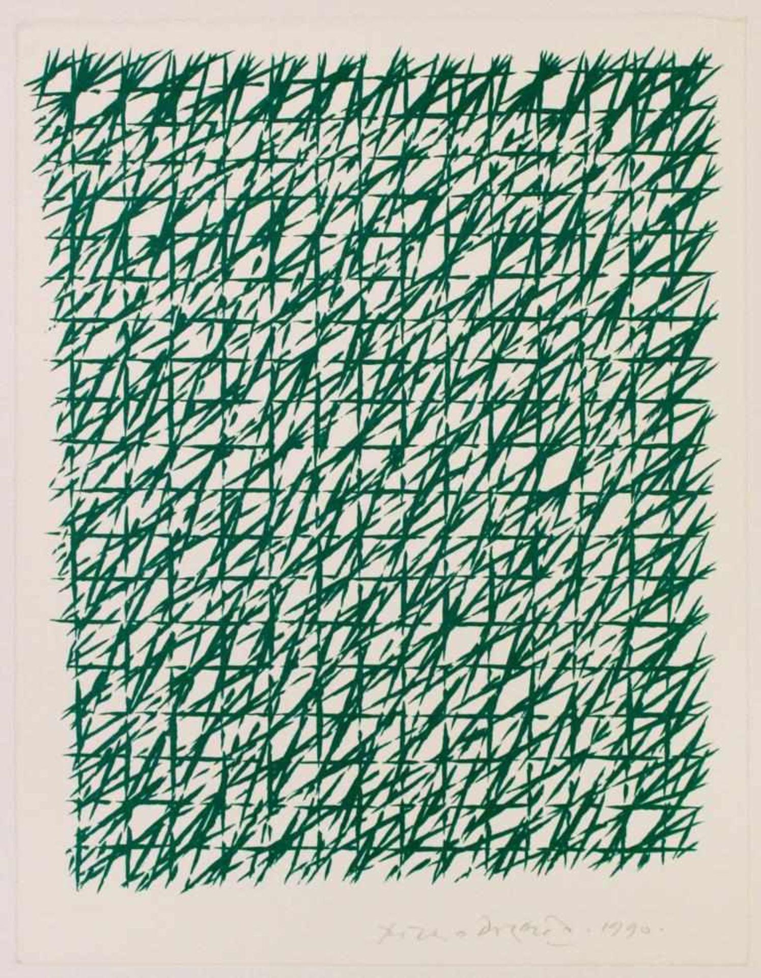 Los 4 - Doratio Piero (1927-2005) Ohne Titel 1990 Lithographie handsigniert und datiert 39 x 28 cm