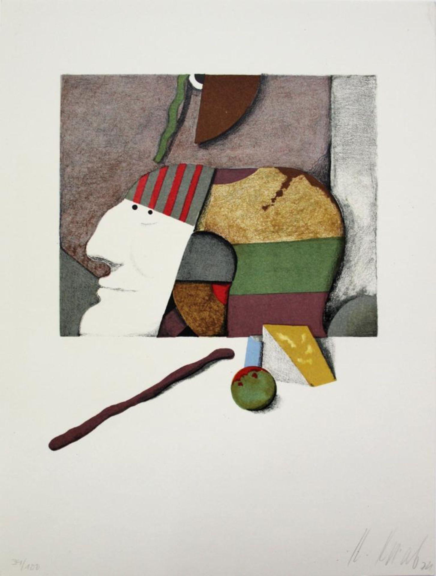 Korab Karl (geb. 1937) Ohne Titel 1974 Farblithographie handsigniert, datiert und nummeriert ed.