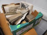 Lot 50 - Box of post cards and photographs