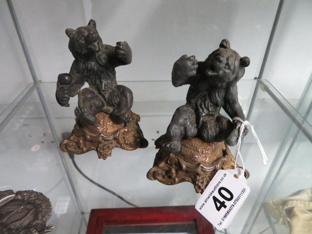 Lot 40 - Two spelter bears