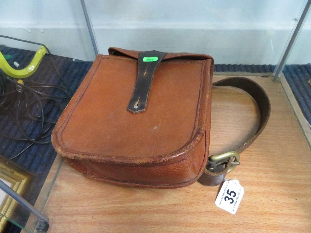 Lot 35 - Pig skin cartridge bag
