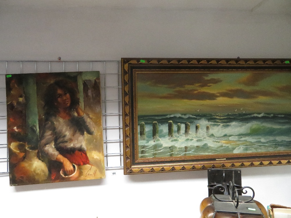 Lot 44 - Two oil paintings