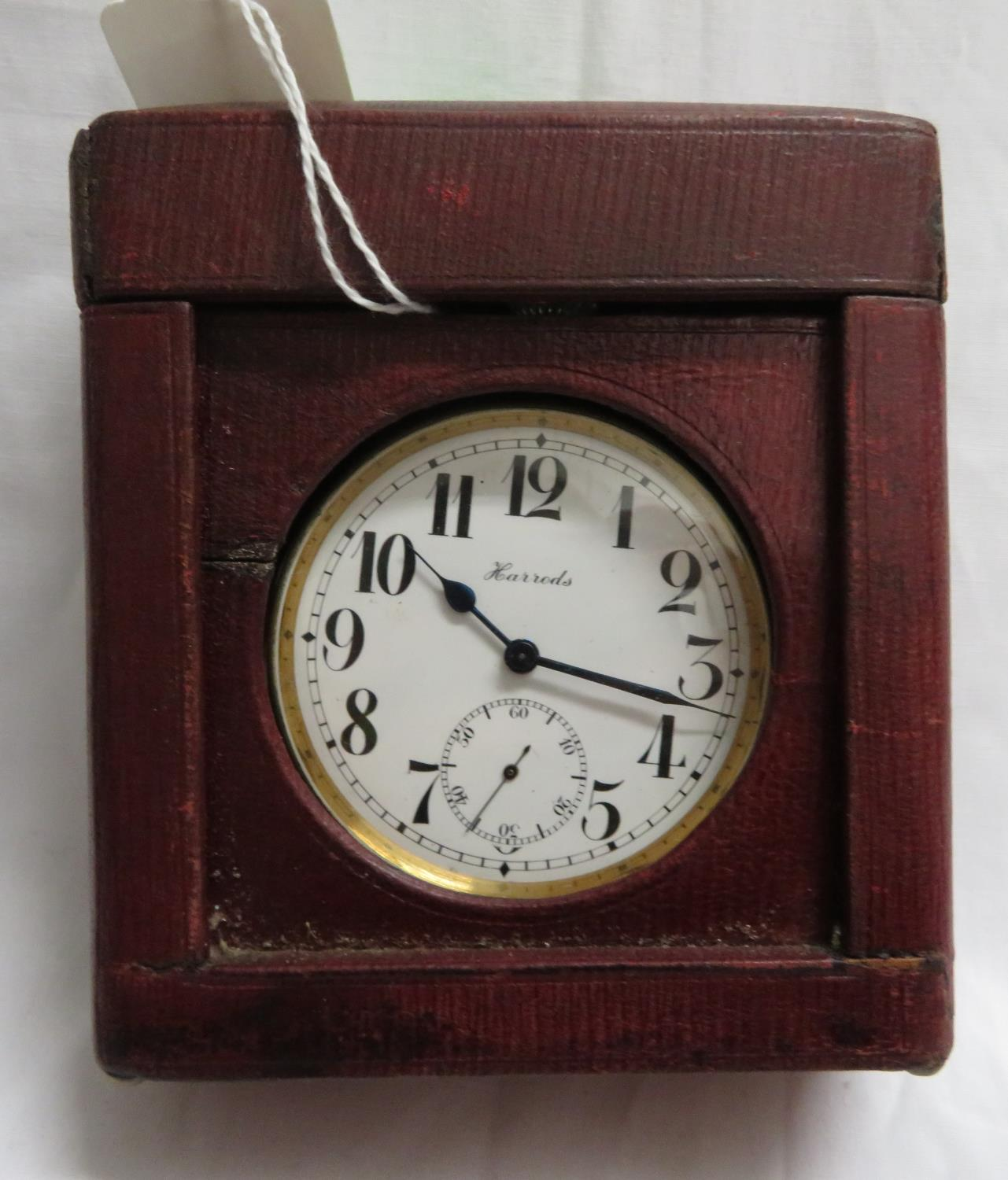 Lot 21 - Harrods Goliath pocket watch with carry case - fully working