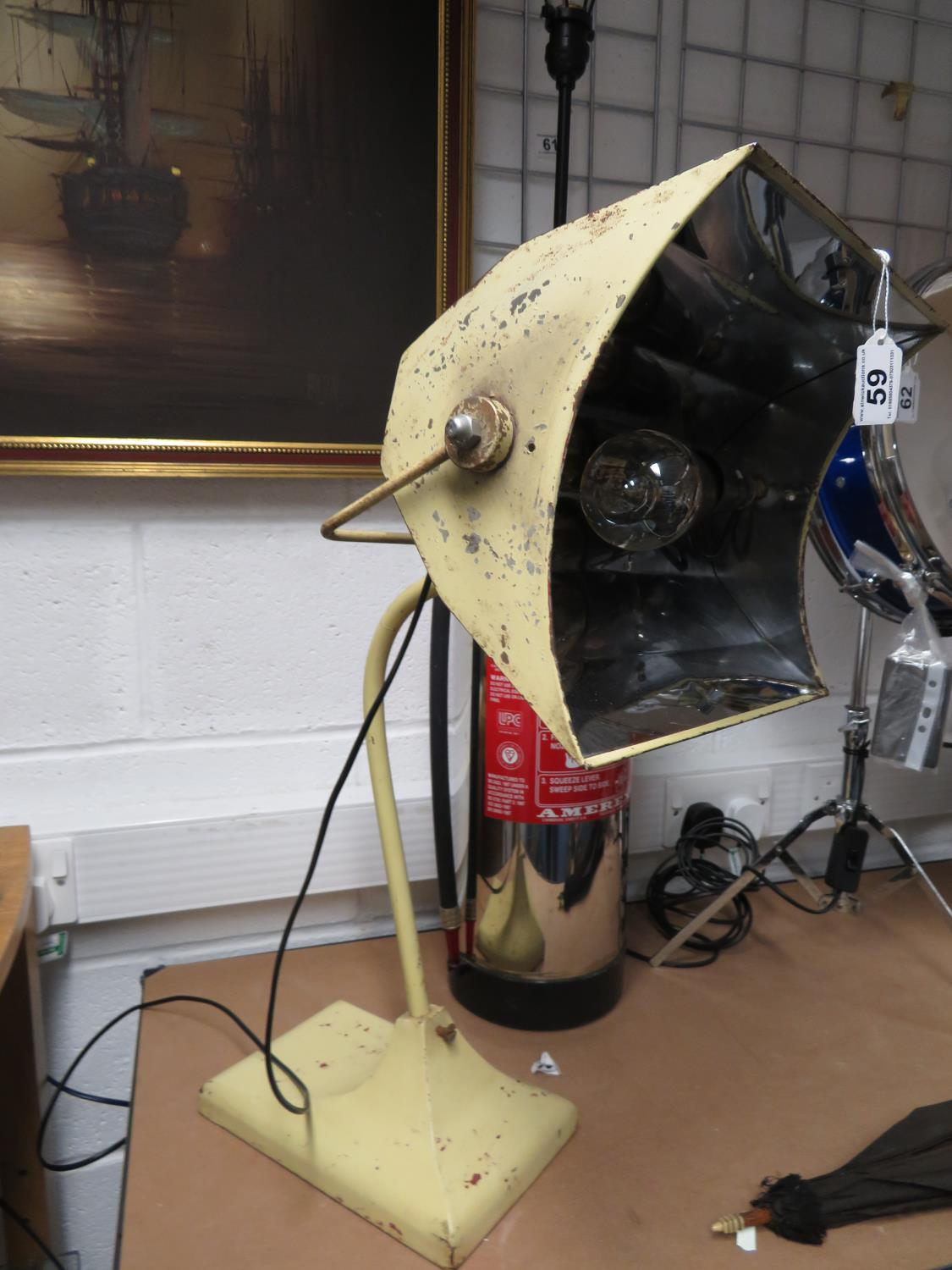 Lot 59 - Repurposed angle poise lamp