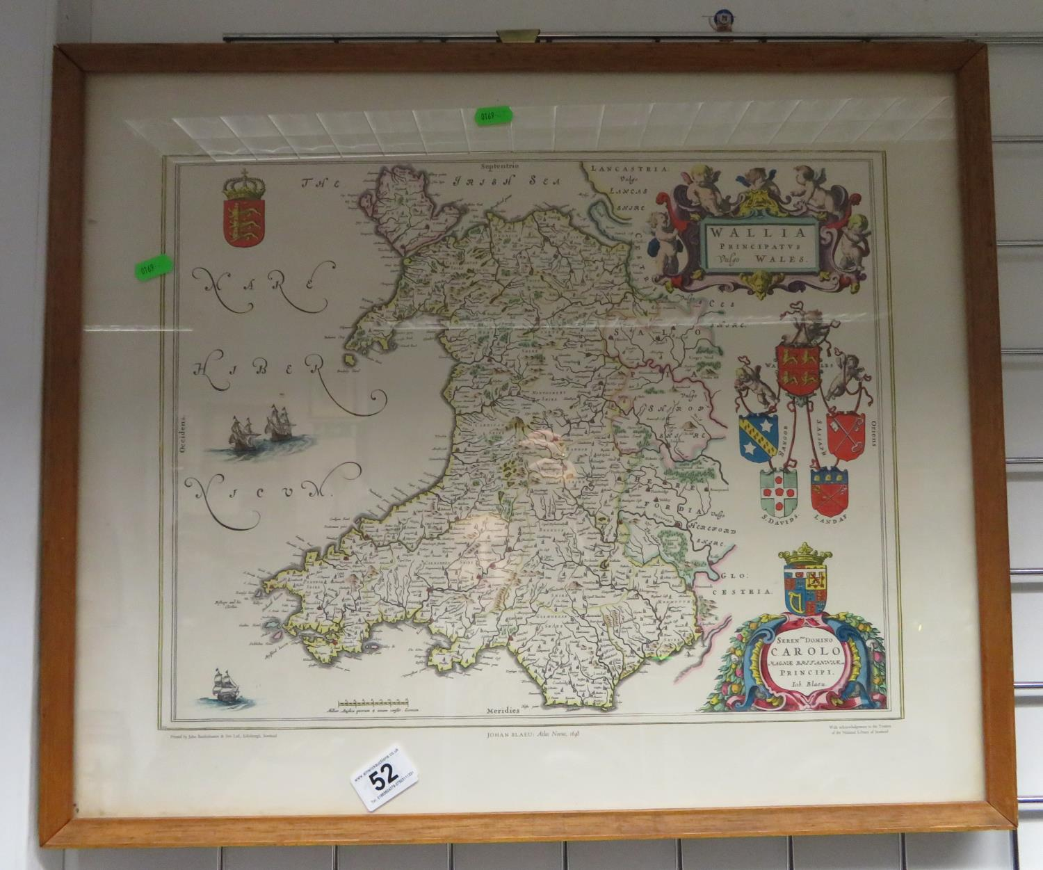 Lot 52 - Map of Wales