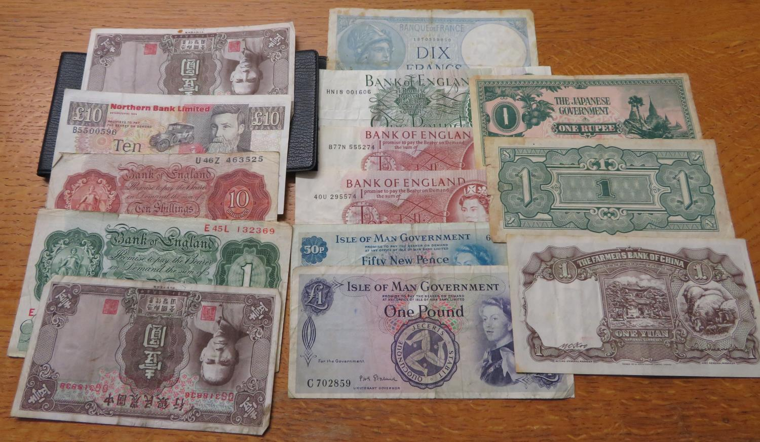 Lot 35 - Large amount of British paper currency and others