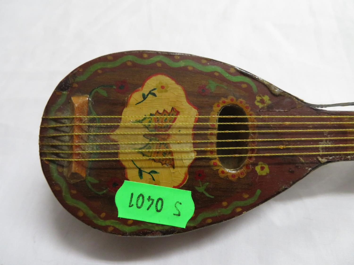 Lot 23 - Prisoner of War miniature mandolin