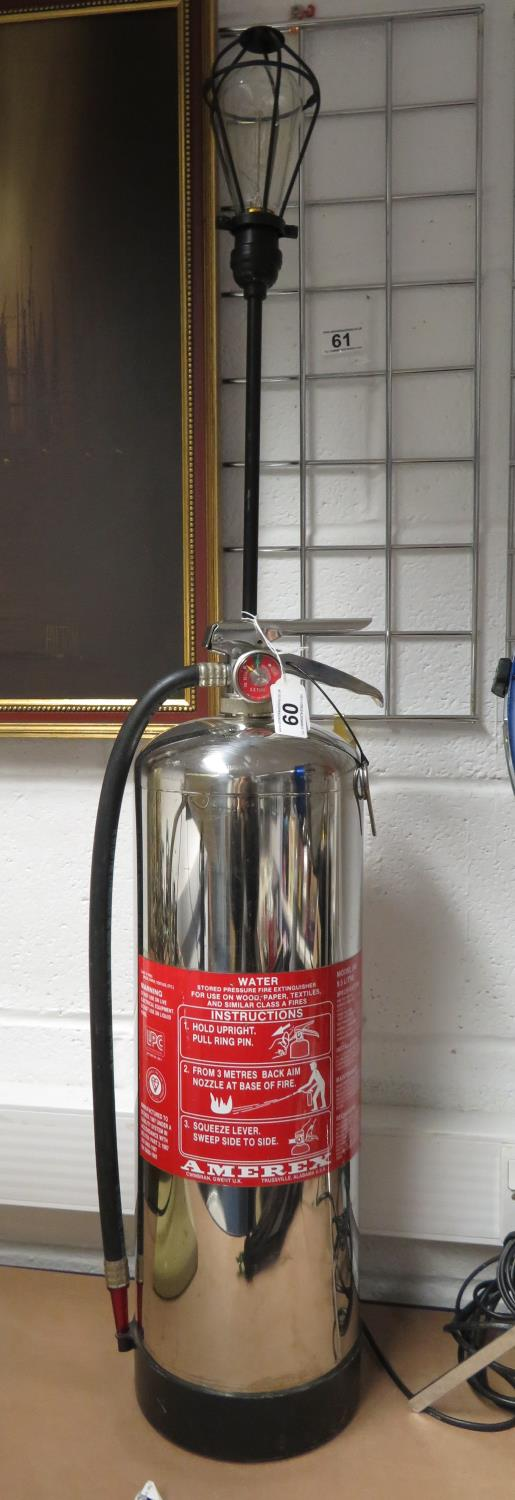 Lot 60 - Fire extinguisher lamp