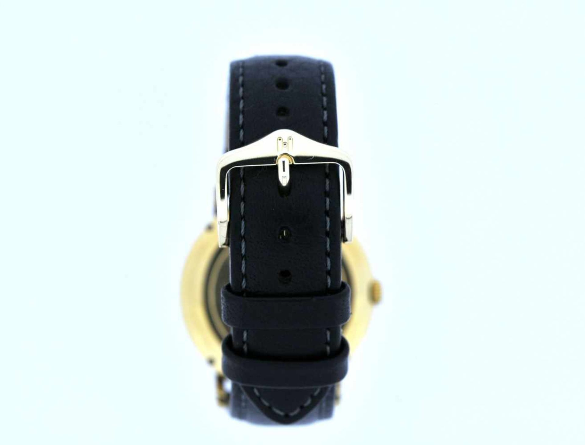 IWC Goldene 18karätige Armbanduhr an Lederband, IWC, Automatik, zentrale Sekunde, Ankerwerk, - Bild 2 aus 4