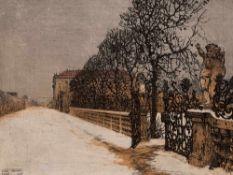Luigi Kasimir, Farbradierung, Schönbrunn, Wien, 1911 Farbradierung auf Velin. Luigi Kasimir (1881-