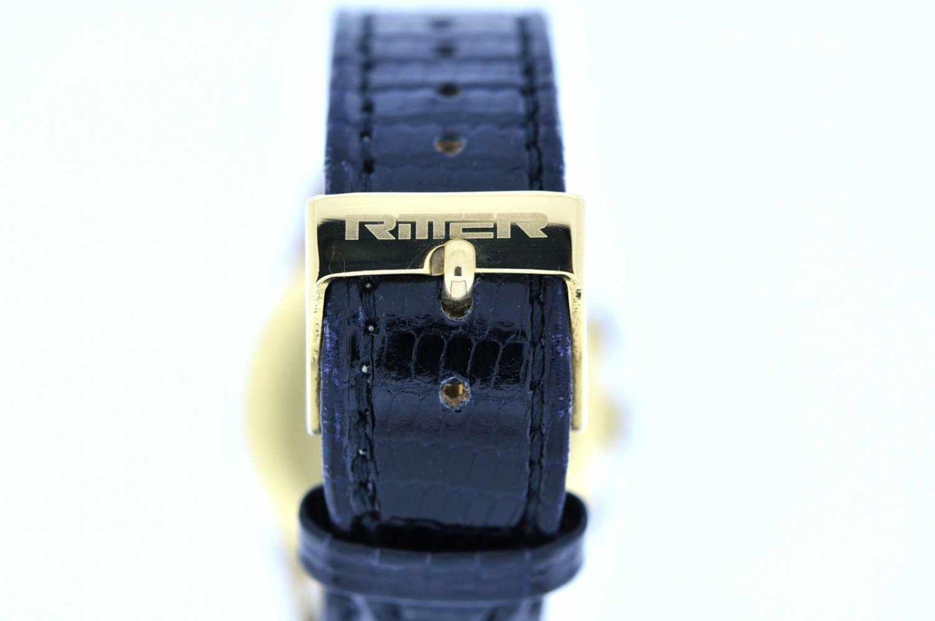 Los 17 - Gigandet Goldene 18karätige Armbanduhr an Lederband, Gigandet Wakmann, Chronograph, Stoppfunktion,
